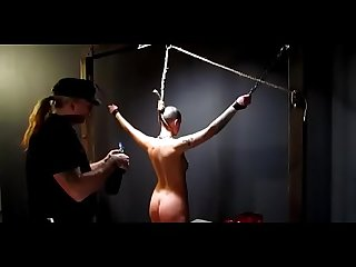 Owned slave slut gets her neck branded by her master