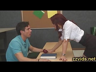 Madison Ivy and Monique Alexander threesome fucking in the school