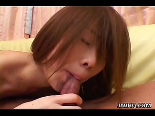 Ami Hyuuga blowjob and cumshot