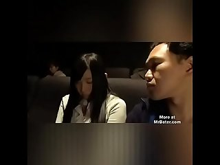 Asian woman used in movie theater