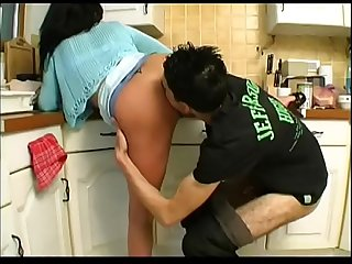 Victoria fucked in the kitchen