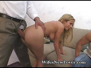 Tight pussy split by new lover