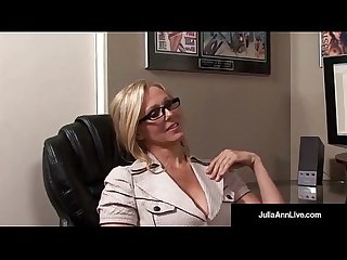 Office milf Julia ann sucks cock gets hot sticky facial