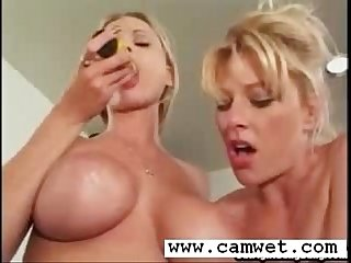 Blonde lesbian sluts pussy dildo