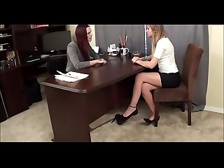 Secret feet sniffing secretary secretly sniffs her boss feet under the office desk watch more on swe