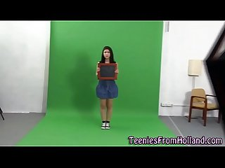 Teen strips at casting