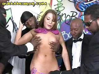 Black men serviced by blonde