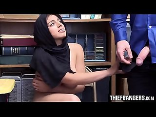 Busty Muslim Thief Ella Knox Apprehended & Fucked By Store Guard