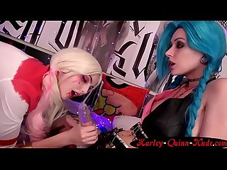 Harleyquinnnude com harley quinn with super hot lesbian girlfriend getting fucked in the ass cam sho
