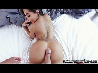 Roundass latina MILF screwed from behind POV