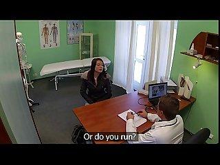 Hot pole dancer fucked on examining table