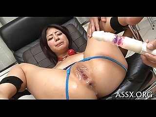 Stretching a juicy asian cunt