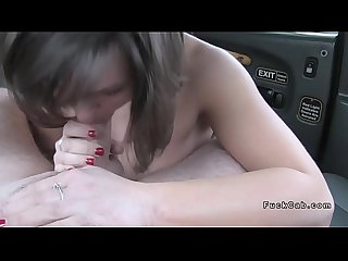 Fake taxi driver bangs brunette amateur