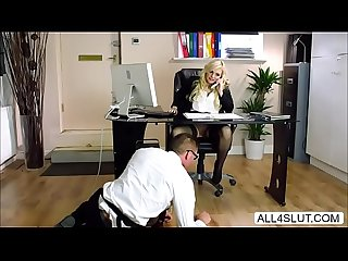 Busty katy jayne gets her pussy licked under the table all4slut com