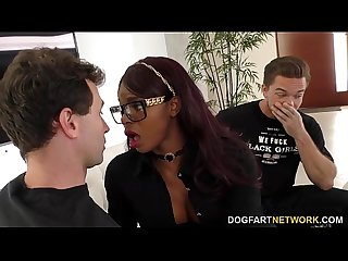 Ebony Jasmine Webb Fucks White Guys