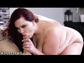 ADULT TIME BBW MILF Alexa Grey Makes Treats for Hung Stud Lover