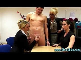 Horny cfnm group of babes