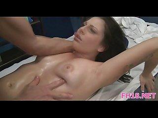 Sexy hot babe fucks and sucks