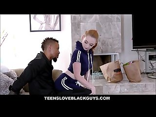 Pale White Teen Step Sister Fucked By Black Step Brother