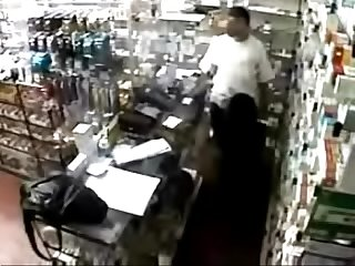 ADDICTED Cute Lady Lets Pharmacist Have Sex With her Behind the Counter for Prescription..