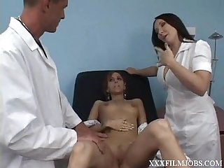 Doctor donny long does more than a boob exsam
