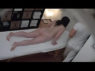 Hot massage turns to fingering spycam