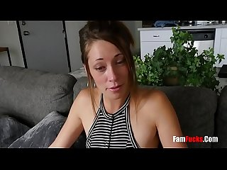 Stepbro blackmails sis with her nudes