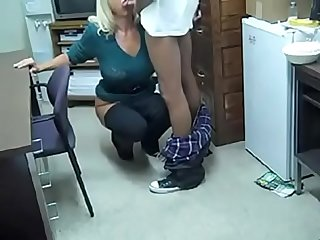 Milf office bbc