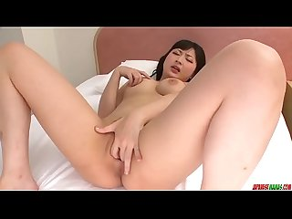 Megumi Haruka finger fucking solo play at home - More at Japanesemamas.com