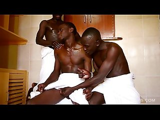 African pisss and bareback threesome