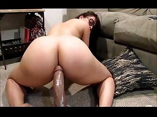 Thick pawg bounces ass on dildo more at faporn69 com