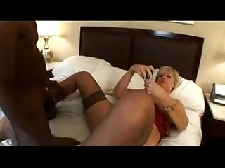 Horny blonde grandma wants a black cock