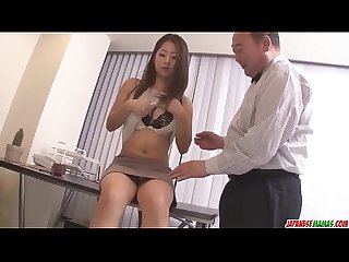 Satomi Suzuki dildo fucked and licked on clit by older man - More at Japanesemamas com