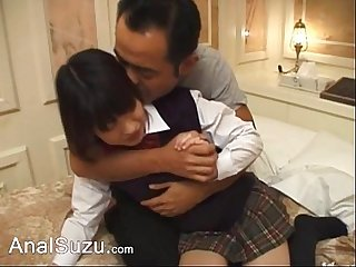Deep japanese butt sex in the hotel room