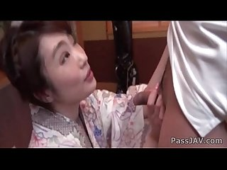 Wife ryouka shinoda kneels to suck this guy s dick