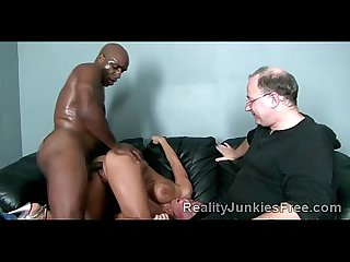 Milf disgraced on her all fours by black dong in front of her husband
