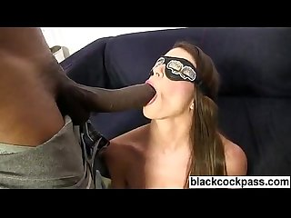 White slut Interracial group Sex with 6 blacks