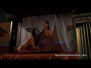 Lesbian slave s revenge threesome play in old rome