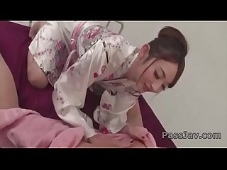 Kimono lady,�Reon Otowa, ass licking and dirty blowjob