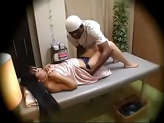 Black guy force fucks asian in the name of massage
