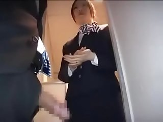 Asian stewardess is so skilled at caressing penis pt2 on hdmilfcam com