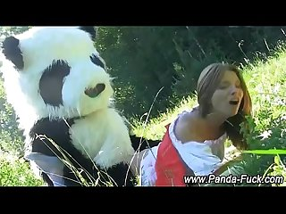 Amateur plush panda fake cum