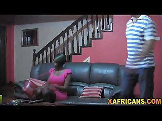 Beautiful ebony girlfriend banged in pov by her white boyfriend