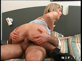 French pornstar delfynn delage gets double teamed