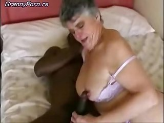 Grey Granny Fuck Black Guy