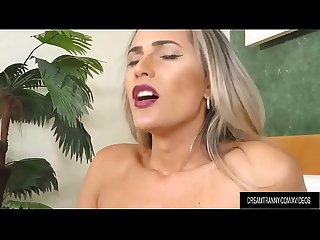 Seductive Transsexual Bella Atrix Masturbates with Sex Toys