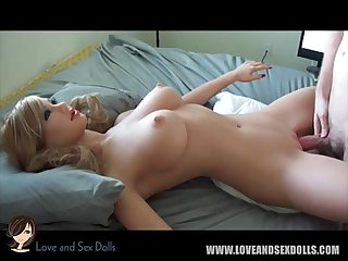 Sex doll blow job, tit fuck and hard fuck compilation, TPE, silicone..