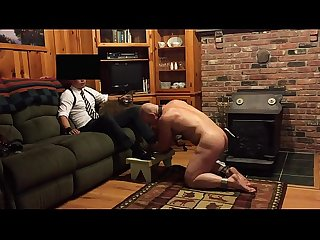 Master Gets His Shoes Shined by slave