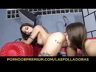 LAS FOLLADORAS - Spanish pornstar Alexa Nasha picks up and fucks amateur lesbian babe