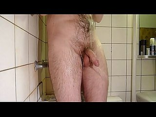 Wanking in shower